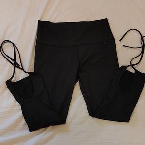 Aerie 3/4 length yoga leggings with tie ups